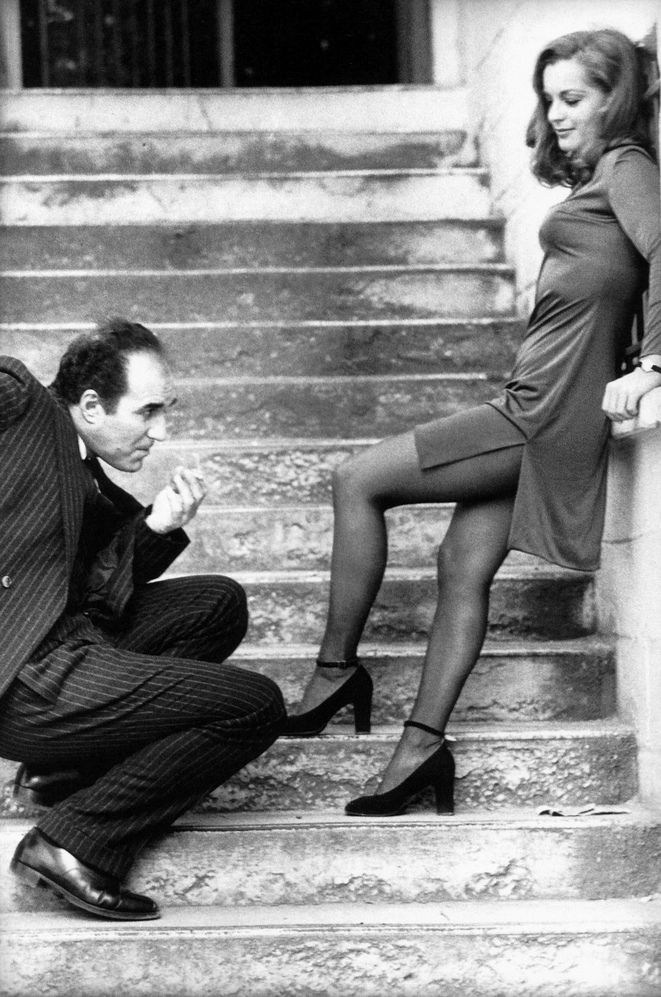 una-lady-italiana:  Romy Schneider with Michel Piccoli by Giancarlo Botti