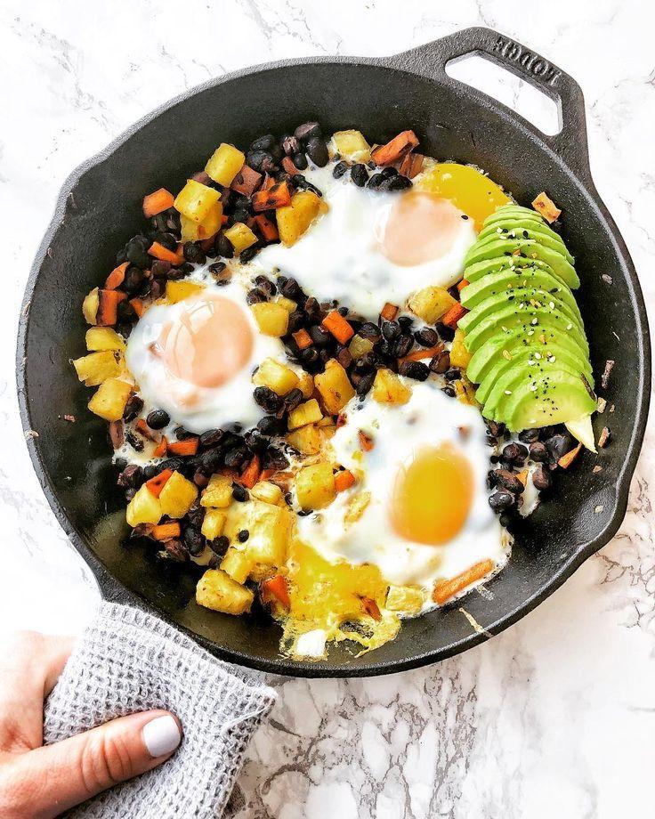 Southwest Breakfast Skillet With Sauteed Pineapple Recipe Breakfast Brunch Recipes Sweet Potato Hash Recipes