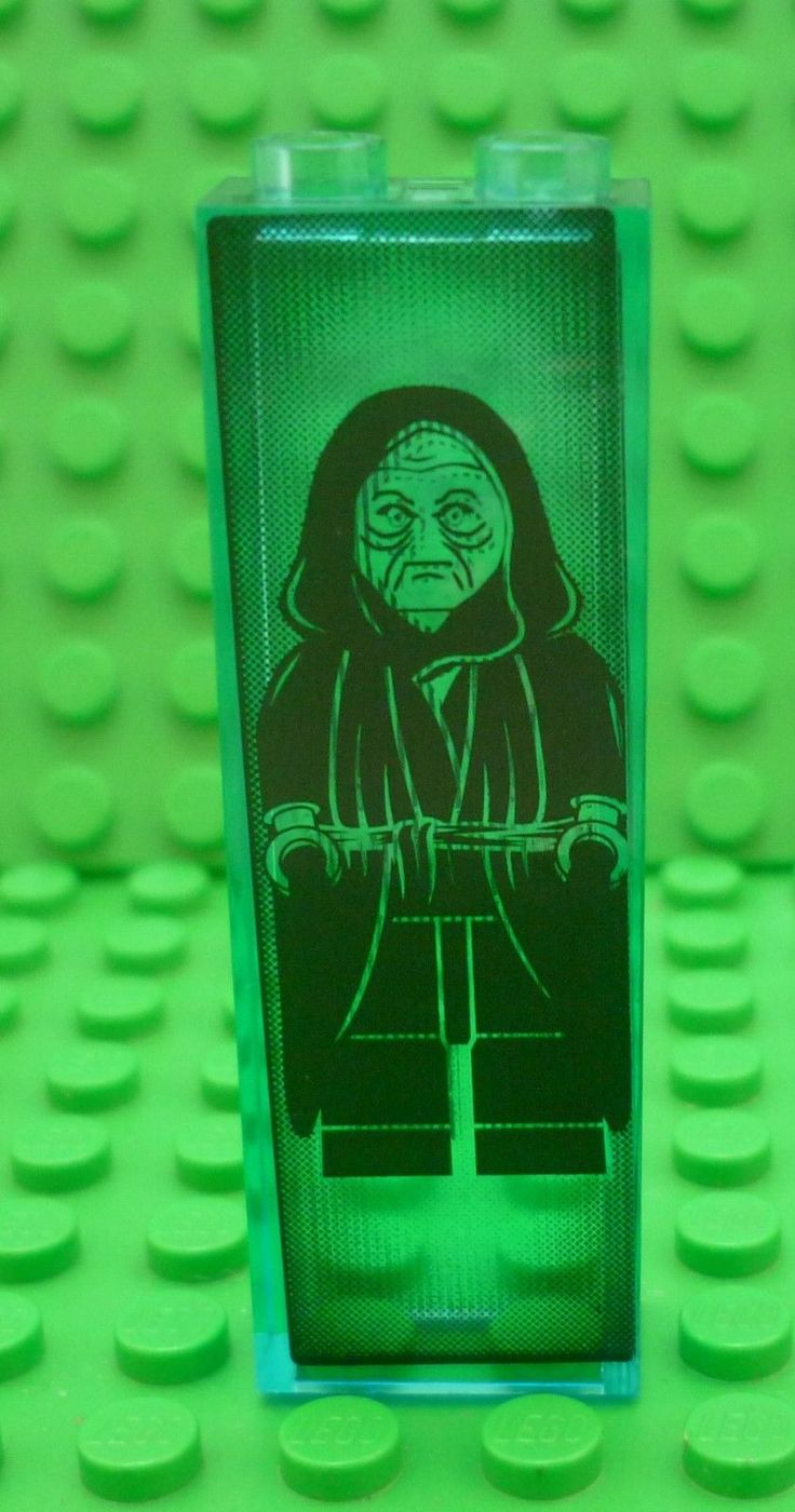 Lego star wars #emperor palpatine #hologram #sticker from 6211 on trans blue bric,  View more on the LINK: http://www.zeppy.io/product/gb/2/142141479980/