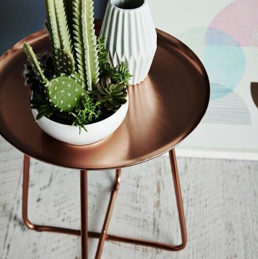 Copper side table love from Adairs