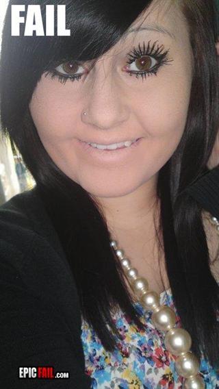 Makeup Fails Ugly Makeup: Make-up Fail--haha! Poor Girl...I'd Help Her, But This Is