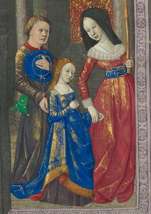 Titre : « Le Livre des faiz monseigneur saint Loys », composé à la requête du « cardinal de Bourbon » et de la « duchesse de Bourbonnois ». Date d'édition : 1401-1500 Français 2829 folio 85r