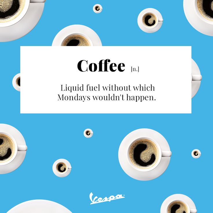 Grab Monday by the... coffee cup | #Vespa #coffee #VespaDictionary