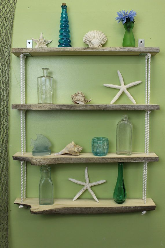 15 must see driftwood shelf pins home furniture wood for Driftwood wall shelves