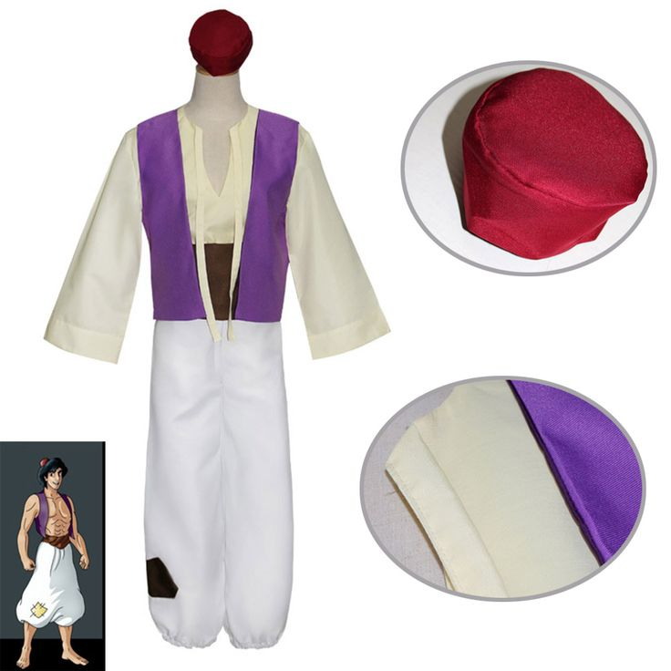 (5 pieces ) 2017 Aladdin Magic Lamp Prince Aladdin cosplay Costumes Classic Prom suits for men adults  #Affiliate