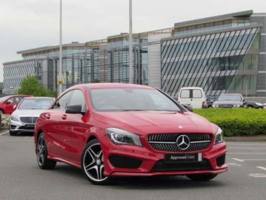 Used 2013 (63 reg) Red Mercedes-Benz Cla Class CLA 180 AMG Sport 4dr [Comand] for sale on RAC Cars