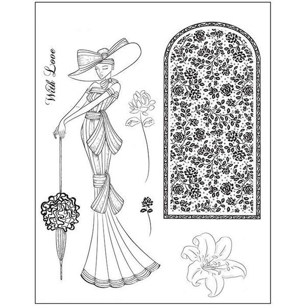 Clear stamp Victorian (Tanja)