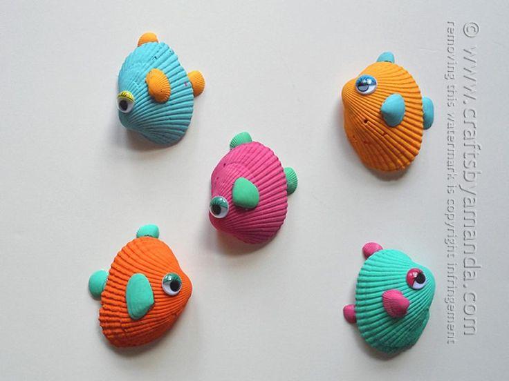 12 bricolages pour les enfants à faire avec des coquillages! - Bricolages - Trucs et Bricolages
