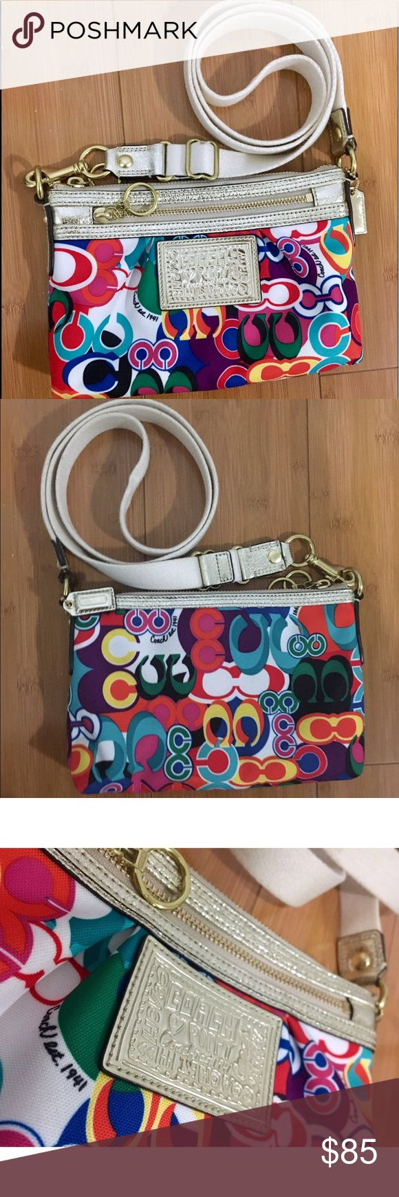 Multicolor Coach Poppy Crossbody Bag Great condition, no visible damage. Great style, no longer sold by designer. Coach Bags Crossbody Bags