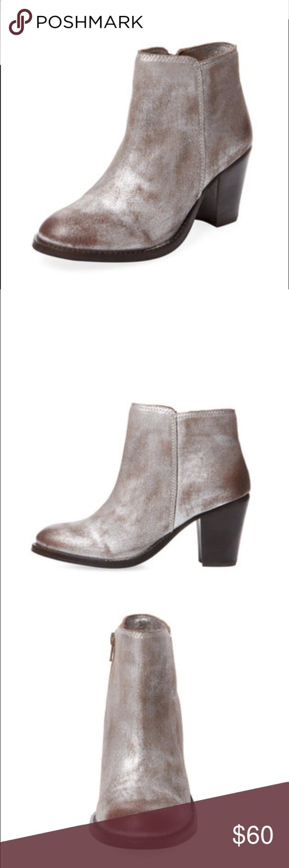 Seychelles Resolution Bootie Brand new in box! Gorgeous booties in pewter- never worn and all original packaging. Heel height 3 inches. Would be super cute with dark skinnies and a sweater! Seychelles Shoes Ankle Boots & Booties