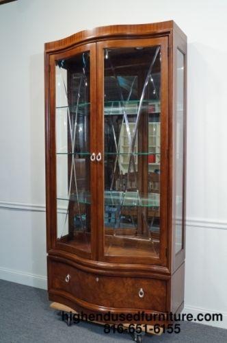 "Thomasville Kitchen Cabinets >> THOMASVILLE Bogart Collection Bel Air 44"" Lighted China ..."