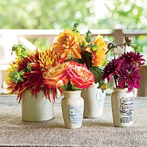 Rustic Outdoor Table Setting | The Flowers | SouthernLiving.com