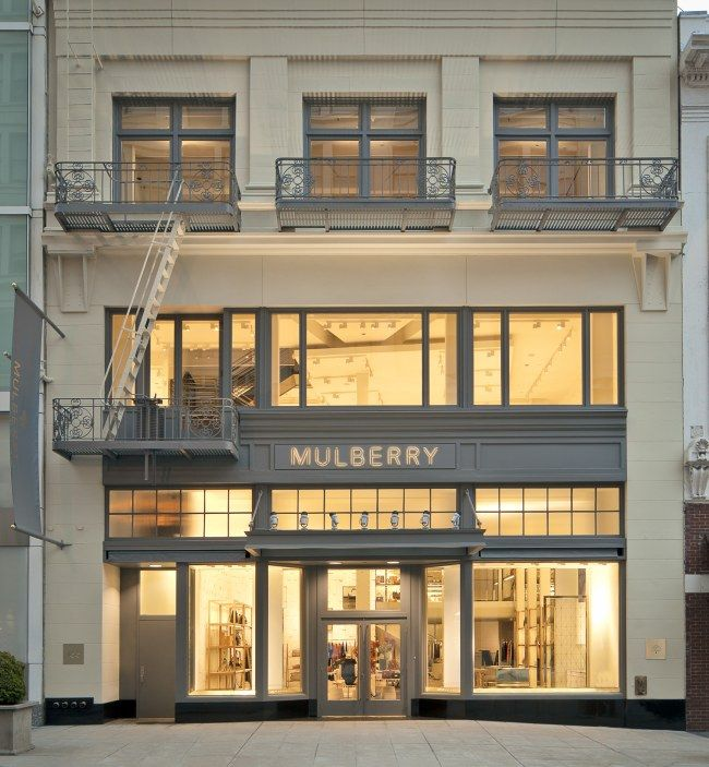 Mulberry, San Francisco Store: Storesfront, Stores Design, Sanfrancisco, Mulberry San, Architecture Interiors Design, Mulberry Stores, Retail Stores, Boutiques Exterior, San Francisco Stores Front