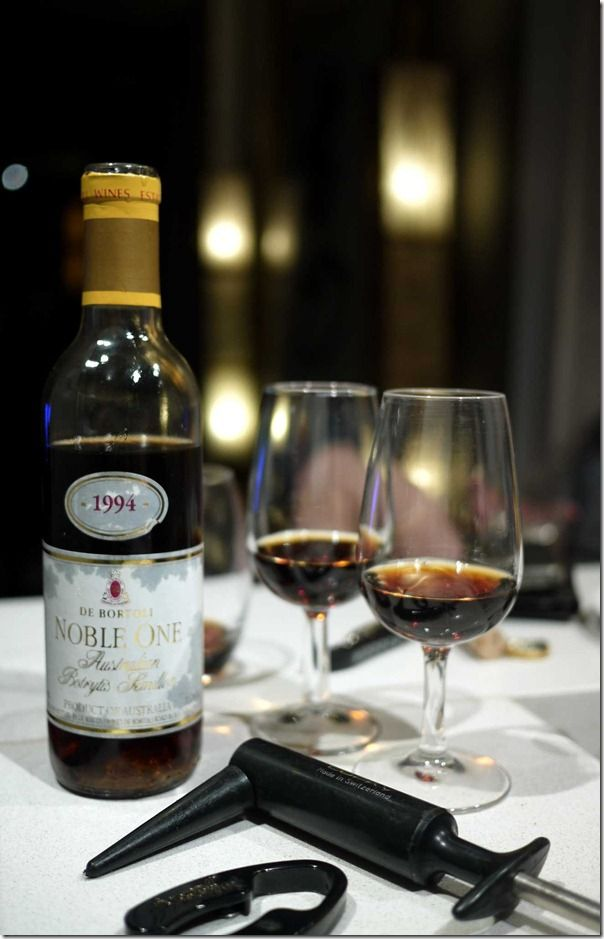 1994 Noble One Botrytis Semillon.  http://www.debortoli.com.au/our-wines/our-brands/noble-one.html