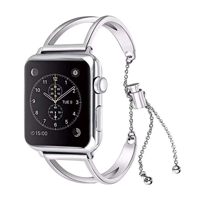 9d09cb7cabe07 WONMILLE Bracelet for Apple Watch Band 40mm, Classy Stainless Steel ...