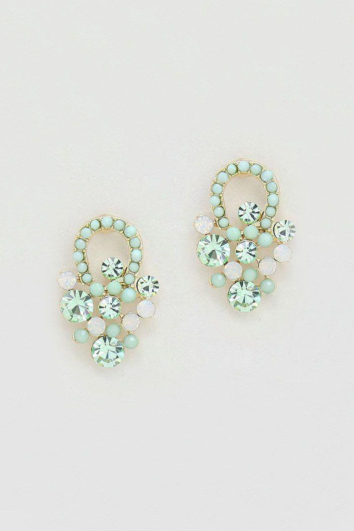Mintylicious Crystal Sabine Earrings on Emma Stine Limited