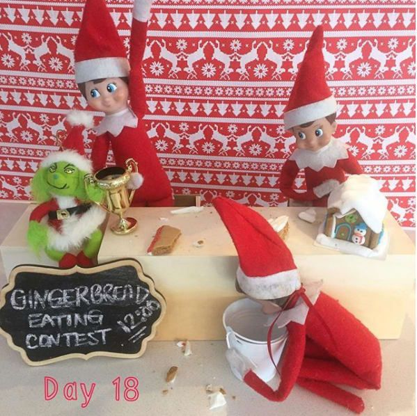 Joey Chestnut has nothing on these elves. From The Howards Got Elfed.