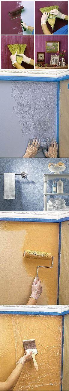 Интересные идеи при покраске стен | Хитрости Жизни