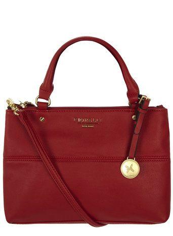 Red mini tote bag