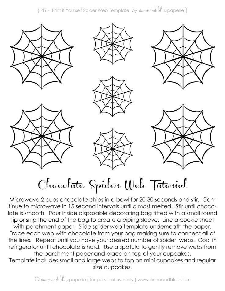 anna and blue paperie: {Free Printable} Spooktacular Spider Webs