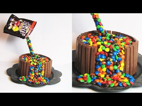 M&M's KITKAT ILLUSSION CAKE DECORATIE TUTORIAL | Verjaardags Taart - YouTube