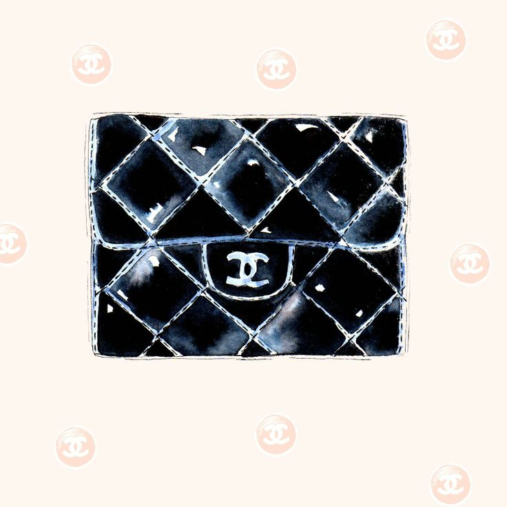 Illustrated Lines: Chanel Purse Watercolour Illustration