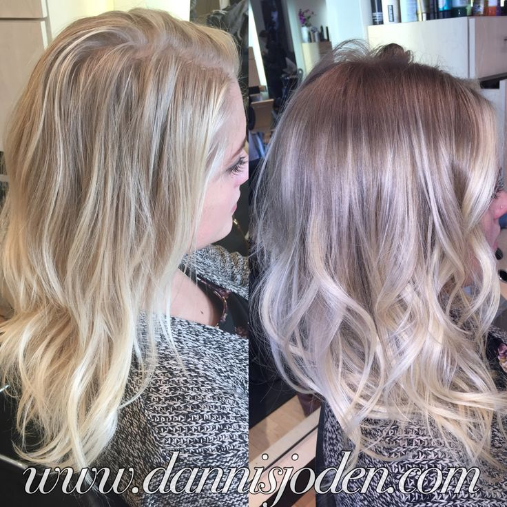 Converted my full highlight client to Balayage ombre color melt! Medium ash blonde melting into platinum with a long bob haircut. Hair by Danni in Denver, Co