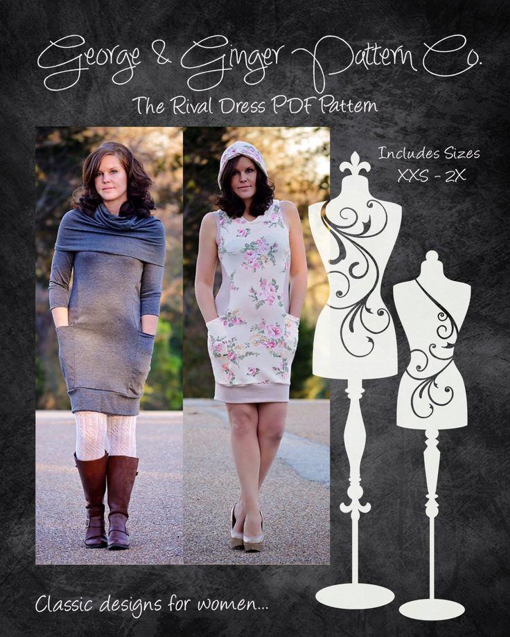 The Rival Dress Womenu0027s Sizes PDF Sewing