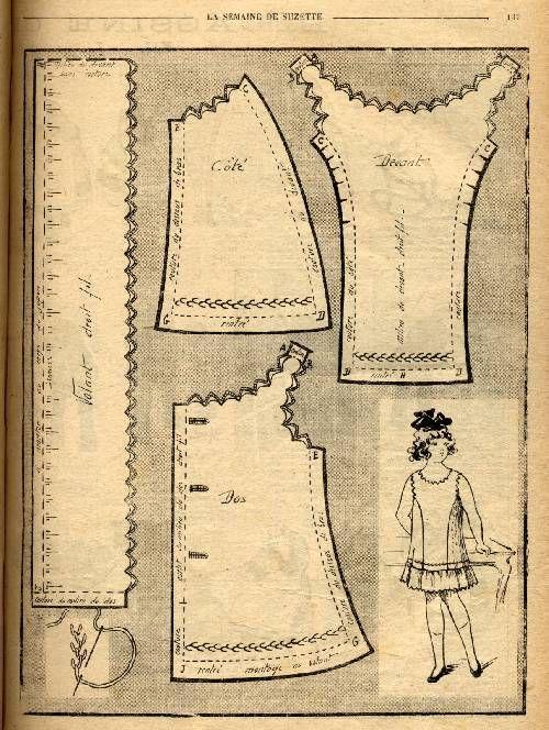 Bleuette 1919 - Robe de dessous                                                                                                                                                                                 Plus