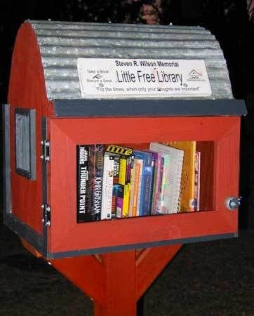 The little free library movement has promoted community worldwide... a barn!!!! maybe.
