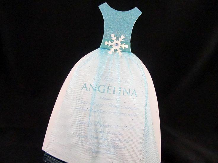 Winter Themed Wedding Invitations: Frozen Or Winter Themed Dress Invitation. For Ordering