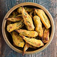 Oil-Free Gluten-Free Oven-Fried Okra | Recipe from FatFree Vegan Kitchen