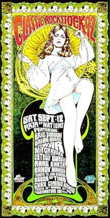 Classic Rock Stock poster by by Bob Masse. Bob produced memorable concert posters for bands as far back as the '60's, and helped pioneer the emerging psychedelic art genre.