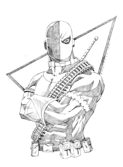 coloring pages of deathstroke costume - photo#23