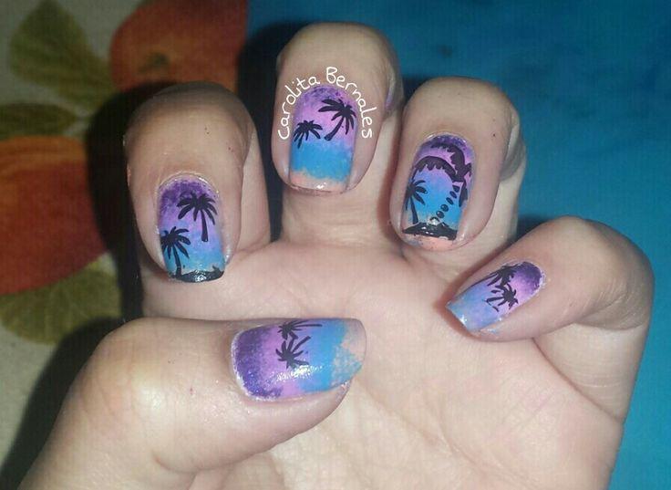Nail Art palmeras