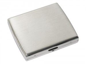 Cigarette Case JC Double Square with engraving is the classic cigarette case to own. Choose your own personalised engraving text, font and text size.