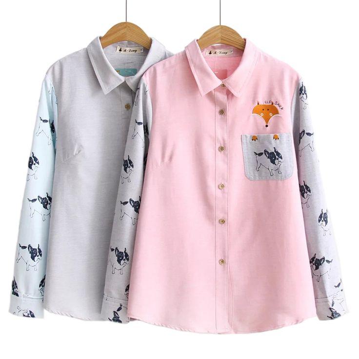 Aliexpress Monikubu Women's fashion casual over big plus size clothing print shirts blouses top for female ladies