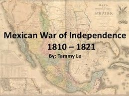 Image result for mexican war of independence