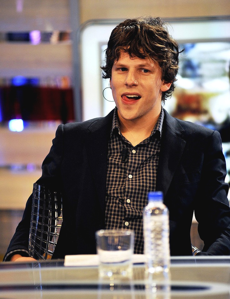 jesse eisenberg. It's okay I'm a nerd...I just think he is so cute ...