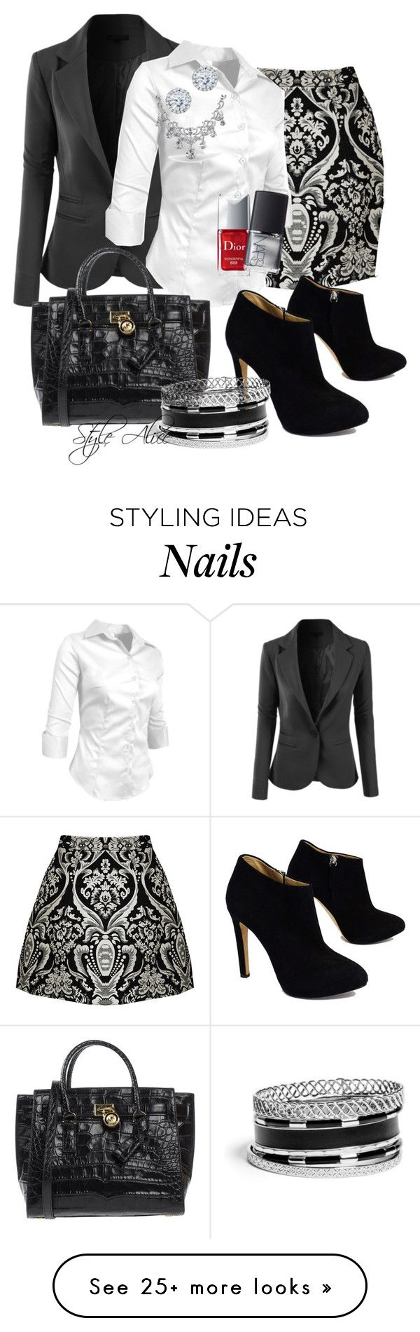 """""""Casual"""" by alice-fortuna on Polyvore featuring Alice + Olivia, LE3NO, MICHAEL Michael Kors, Giuseppe Zanotti, Kobelli, Bling Jewelry, Christian Dior, NARS Cosmetics and GUESS"""