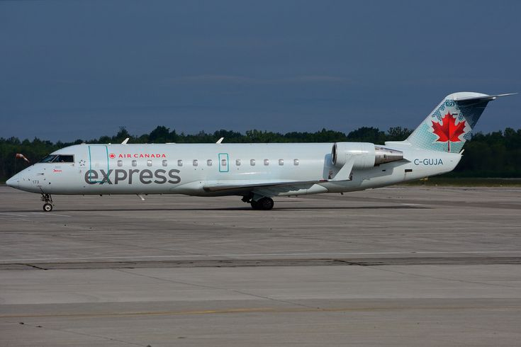 Bombardier Canadair Crj 200er Air Canada Express C Guja Operated By Jazz Aviation At Hamilton Canadian Airlines Fleet Air Canada Rouge