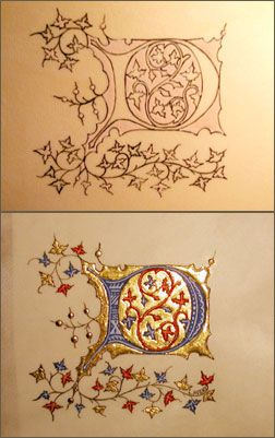 Week 2 - Illumination - Medieval illustration...try this as the beginning word of a favorite Scripture