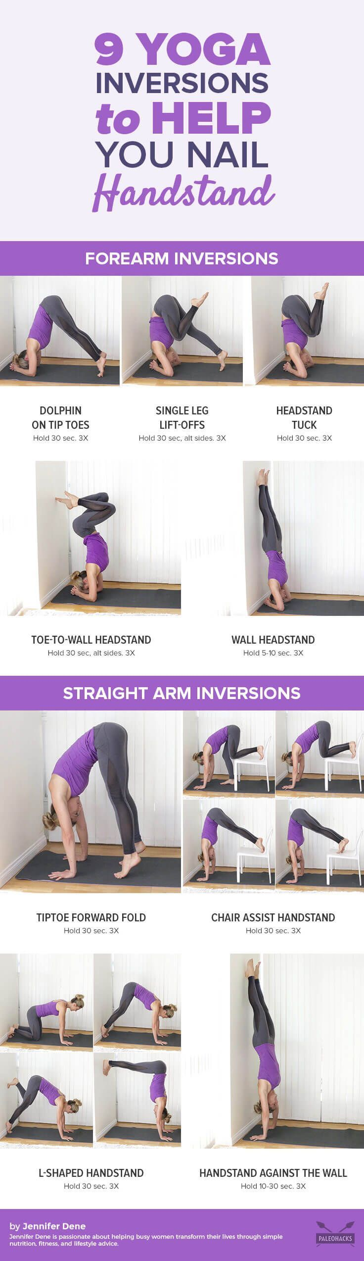 Going upside down can be a little intimidating if you are new to yoga. In this practice, I'm going to walk you through simple yoga inversions to get used to bearing the weight of your body. Along the way, you will discover ways to balance and feel the strengthening benefits of inverting! Get the workout here: http://paleo.co/9yogainversions