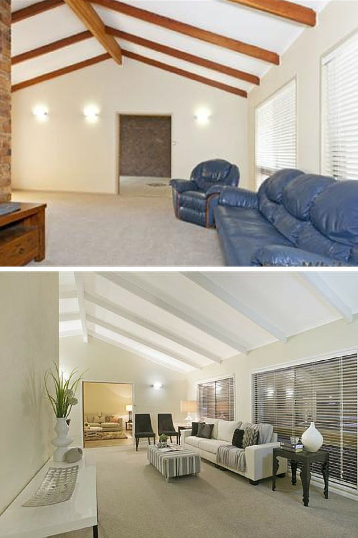 Renovated Lounge - before and after.  From Hotspace Consultants