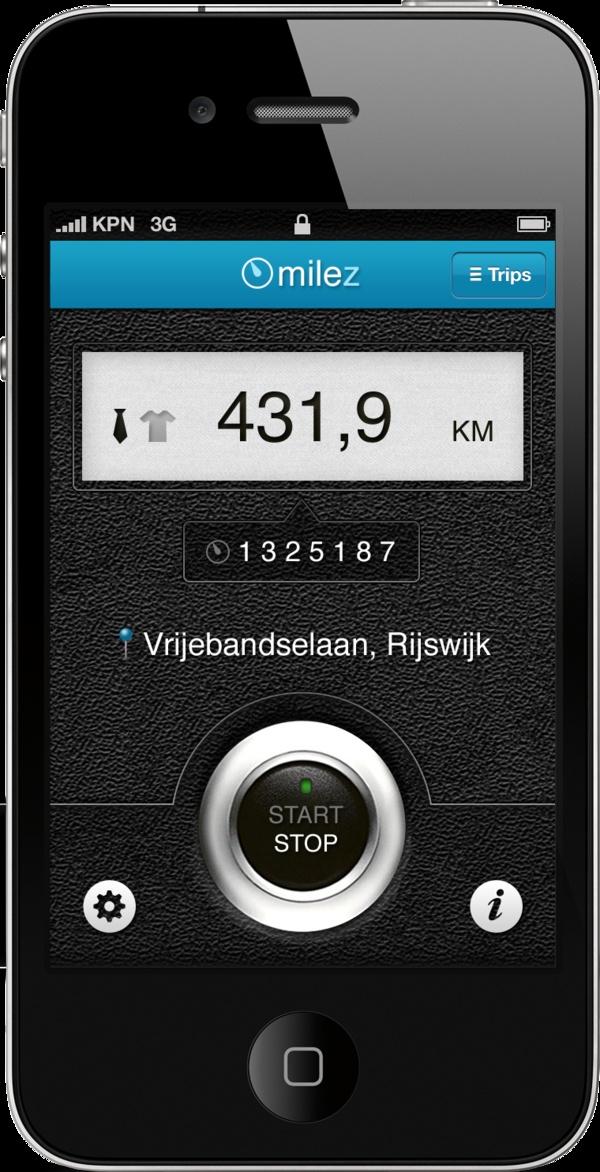 Milez - Simple mileage registration by Arjan Lugthart, via Behance