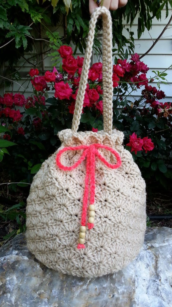 #Crochet Shell Stitch Purse Handbag #TUTORIAL DIY purse Fun crochet bag
