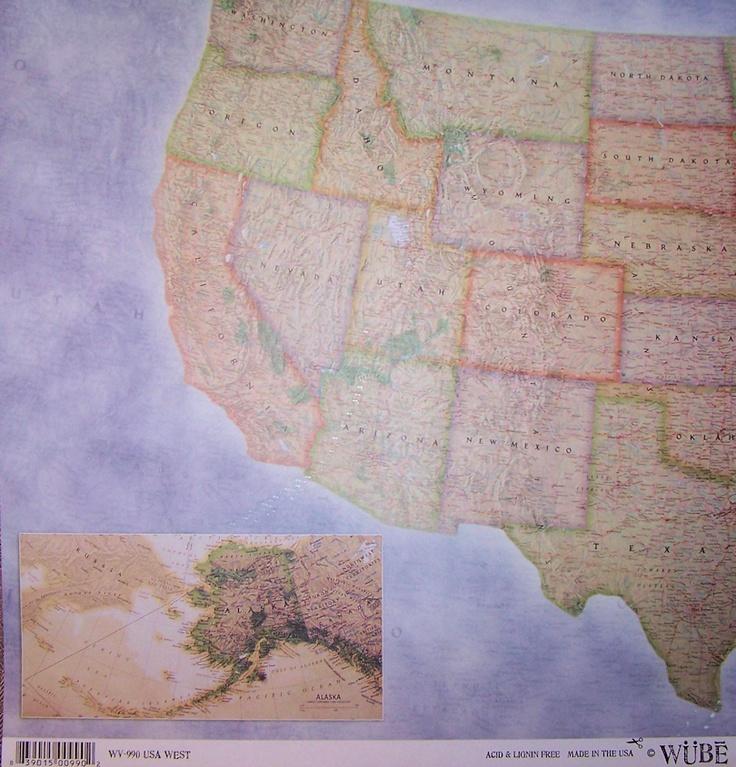 Dinglefoots Scrapbooking Europe Map Scrapbook Paper 069
