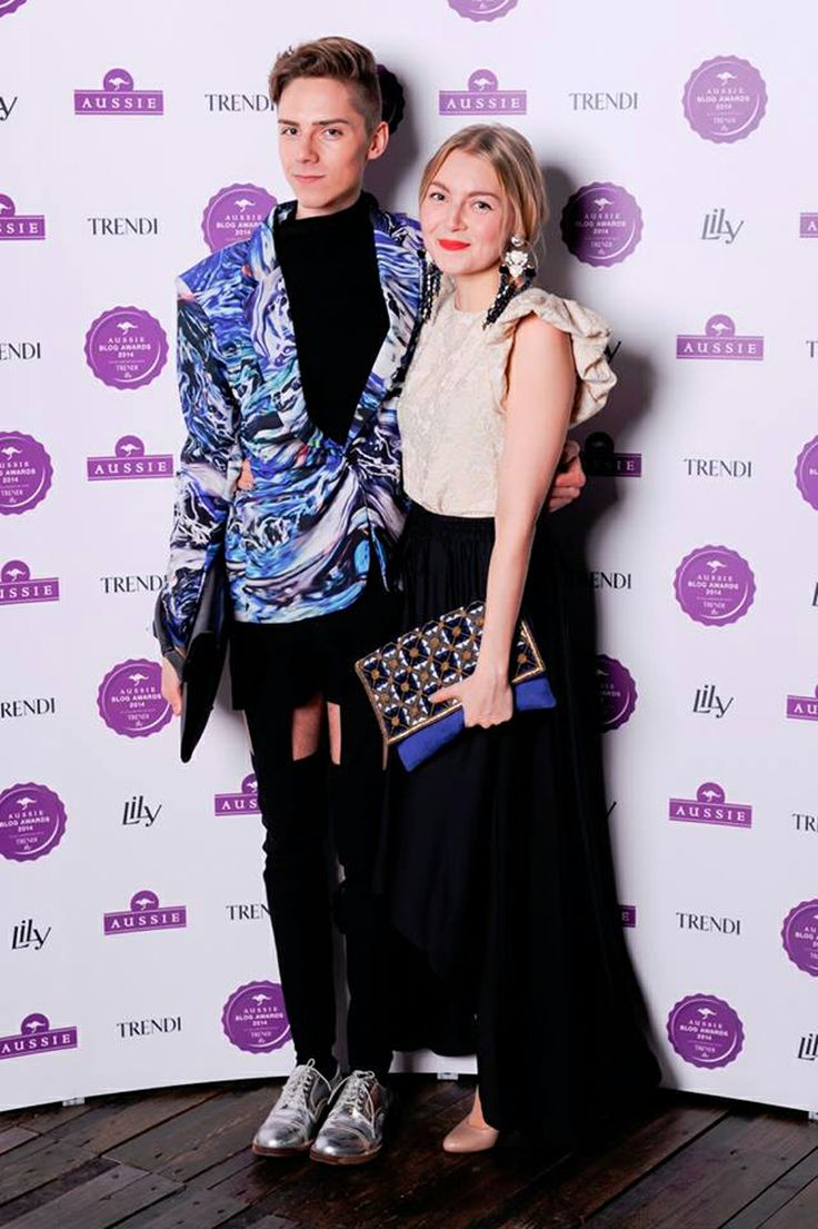 Mikko Puttonen wearing Meri Cut-Out Pants from JULJA at Aussie blog awards 2014  Picture from http://www.mikkoputtonen.com/