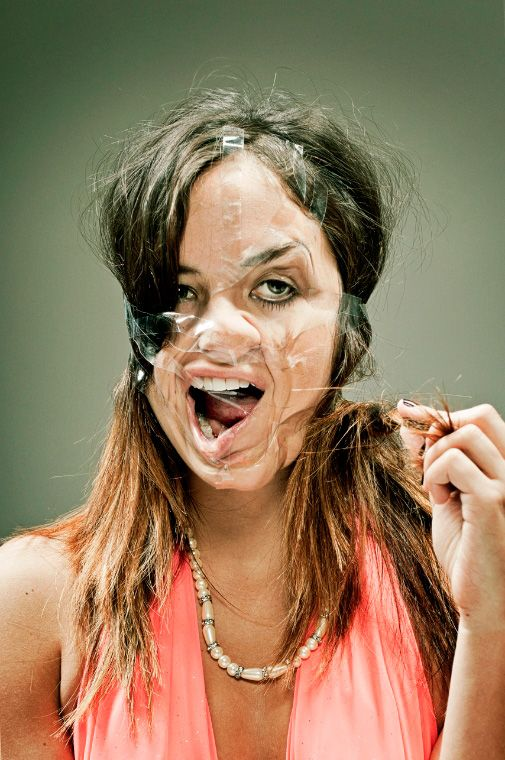 Distorted Scotch Tape Portraits by Wes Naman | Bored Panda