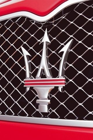 The trident logo on the Maserati is very bold and is ...